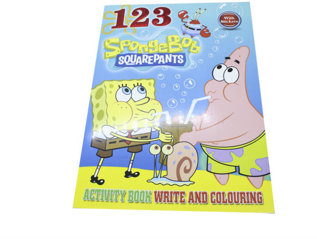 Bob esponja pegatinas de dibujo para colorear libro de actividades ...