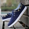 Мода 2016 Твердые мужская Обувь Для Моды для Мужчин холст обувь Мужская Летняя Мода Мужской zapatos Дышащие