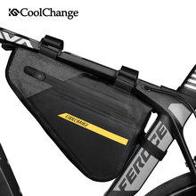 CoolChange Bicycle Bag Triangle Waterproof Large Capacity MTB Bike Bag Outdoor Sports Top Tube Cycling Pannier Bike Accessories outdoor cycling non woven fabric bike top tube double storage bag black