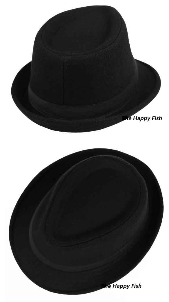 Original Unisex Structured Wool Fedora Hat Fedora hats for men fedora felt hat (7)