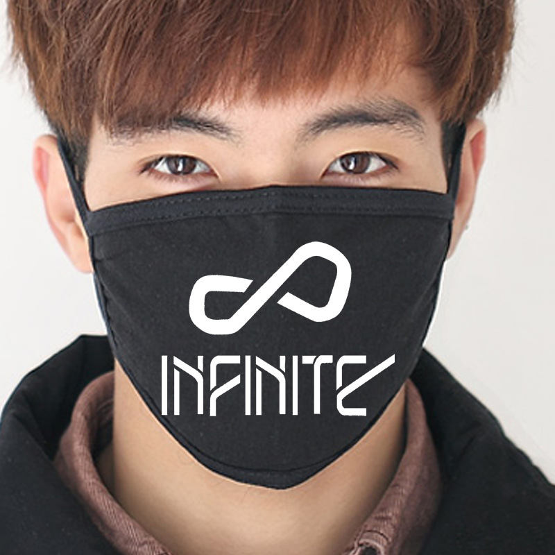 2016 Anti Infinite New Black Cotton Dust Mask Mouth Wings Collective Infinite Kpop K-pop Masks Mouth-muffle Face Respirator Face