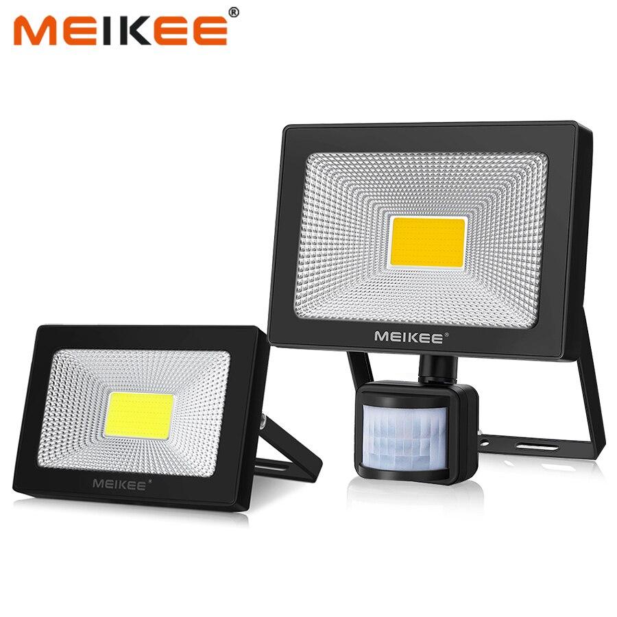 モーションセンサー LED フラッドライト 10 ワット 20 ワット 30 ワット 50 ワット防水 AC110V 220V LED 投光反射板プロジェクターランプ屋外スポットライト