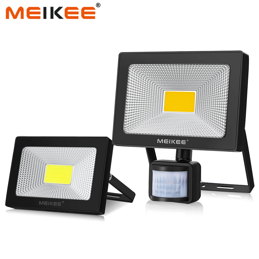 Motion Sensor LED Flood Light 10W 20W 30W 50W Waterproof AC110V 220V LED Floodlight Reflector Projector Lamp Outdoor Spotlight