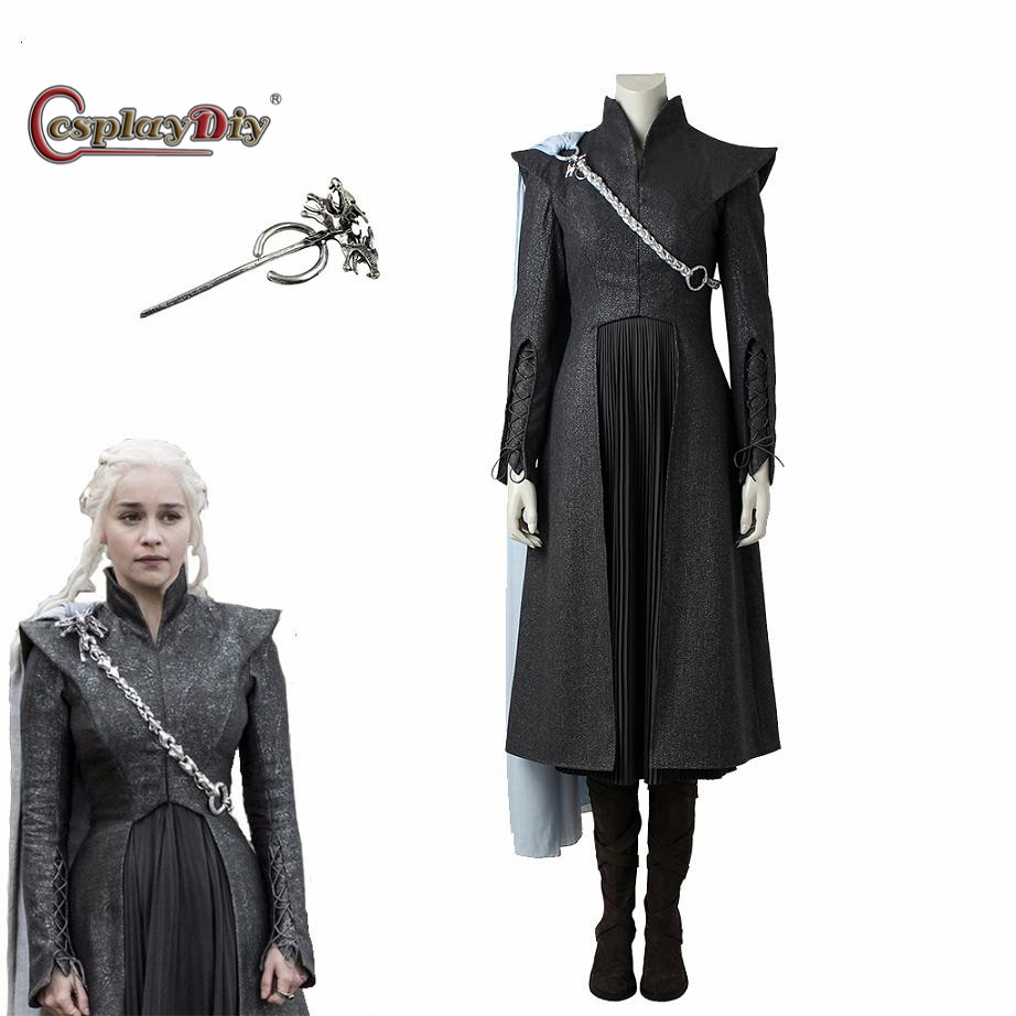 Game of Thrones Season 7 Cosplay Daenerys Targaryen Dress Mother of Dragons Costume Adult Women Costumes For Halloween J5