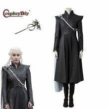 Game of Thrones Stagione 7 Cosplay Daenerys Targaryen Vestito Madre dei  Draghi Costume Adulto Donne Costumi Per Halloween J5 af07f363c9e