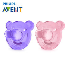 AVENT 2Pcs Silicone Nipple Dummy Baby Soother Toddler Orthodontic Nipples Teether Newborn Baby Girl Pacifier Care For 0-3 Months