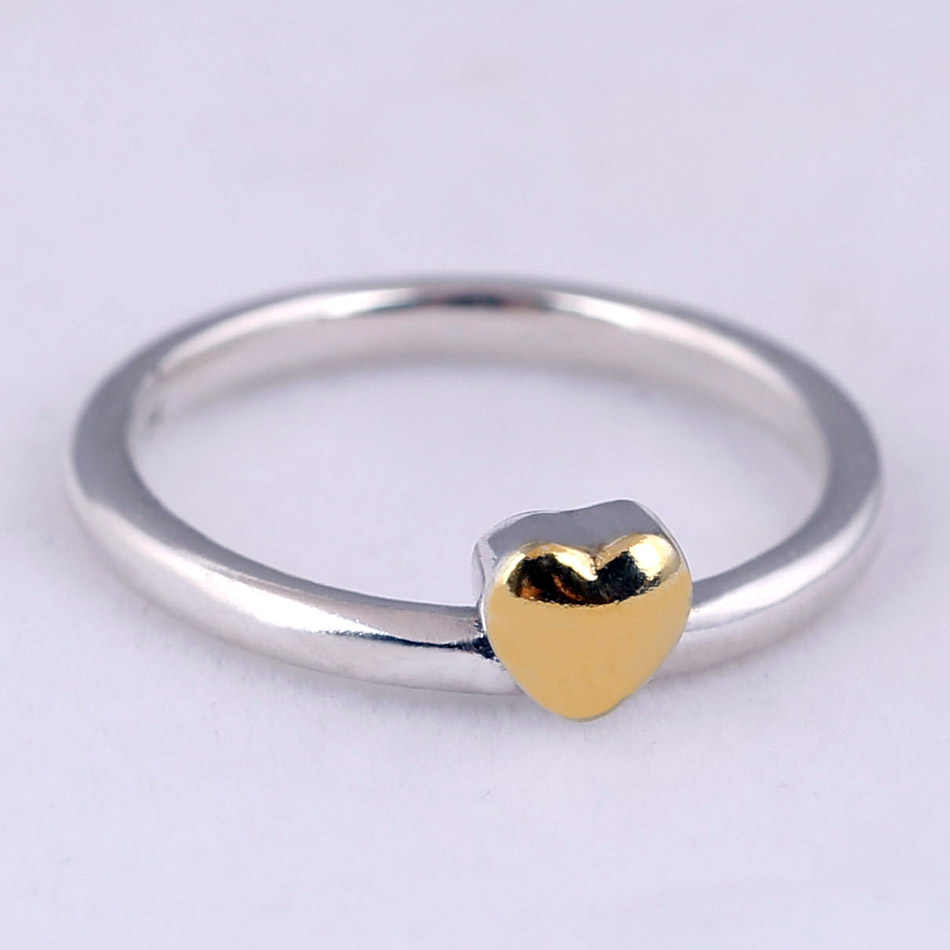 6c85f4c74 ... Authentic 925 Sterling Silver Ring Heart Of Golden Puzzle Gift Set Rings  For Women Wedding Party ...