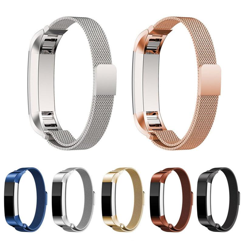 Prix pour 2017 Haute Qualité Marque De Luxe Véritable Fermeture Magnétique Milanese Sangle Montre Bande Excellente Dragonne Pour Fitbit Alta Tracker