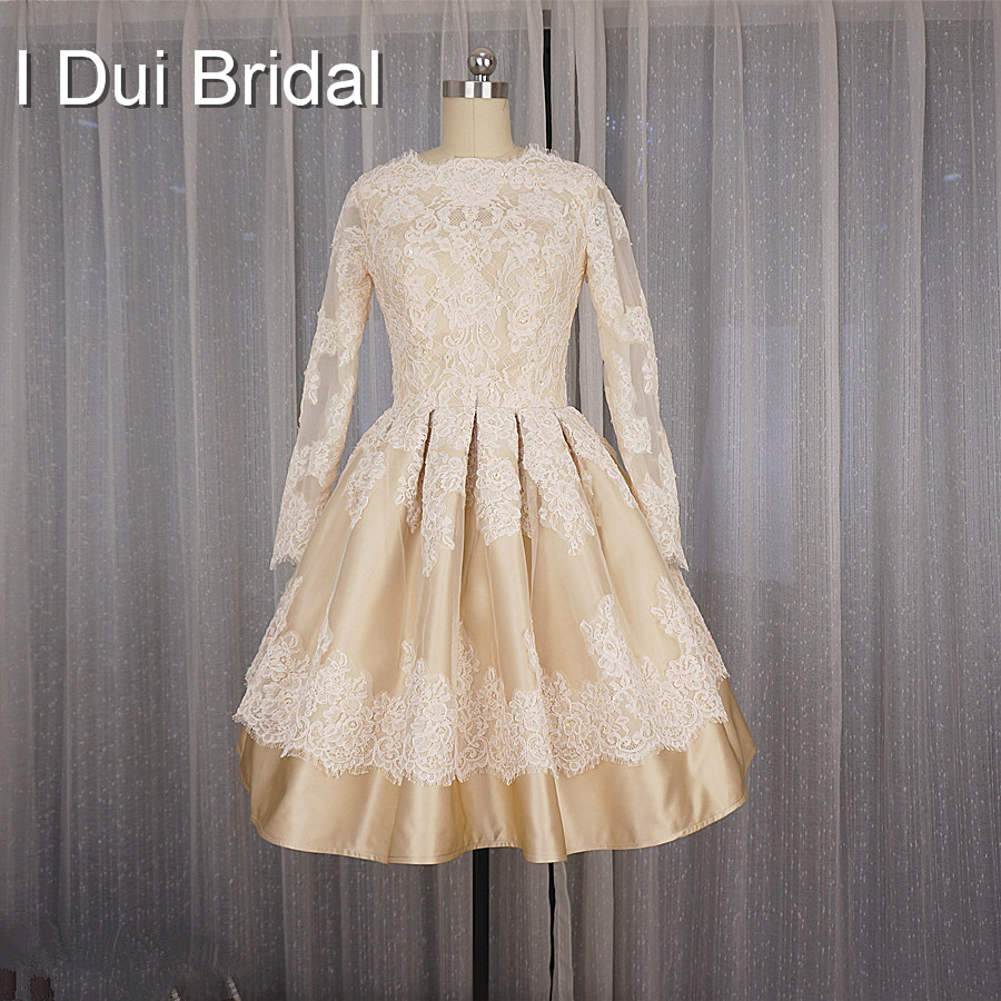 Short Wedding Dress 50s Vintage Style T Length Puffy Long