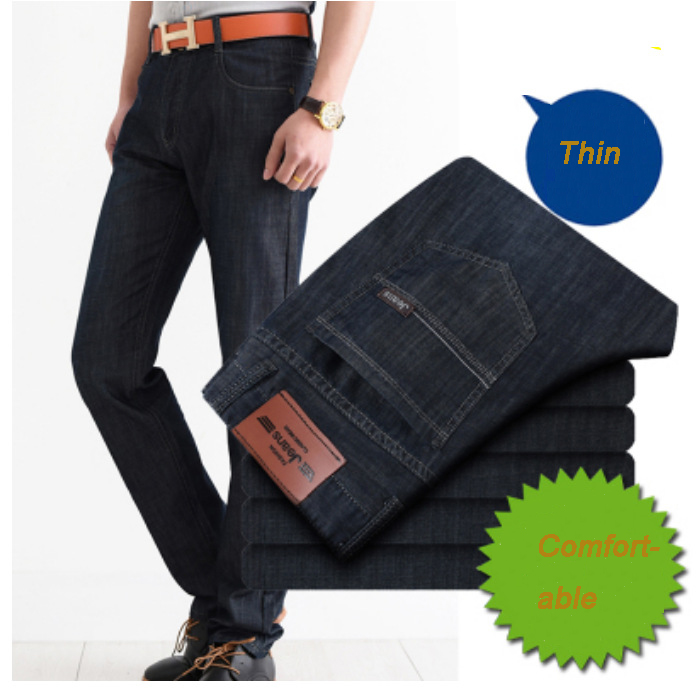 2017 men comfortable jeans homme slim elastic factory. Black Bedroom Furniture Sets. Home Design Ideas