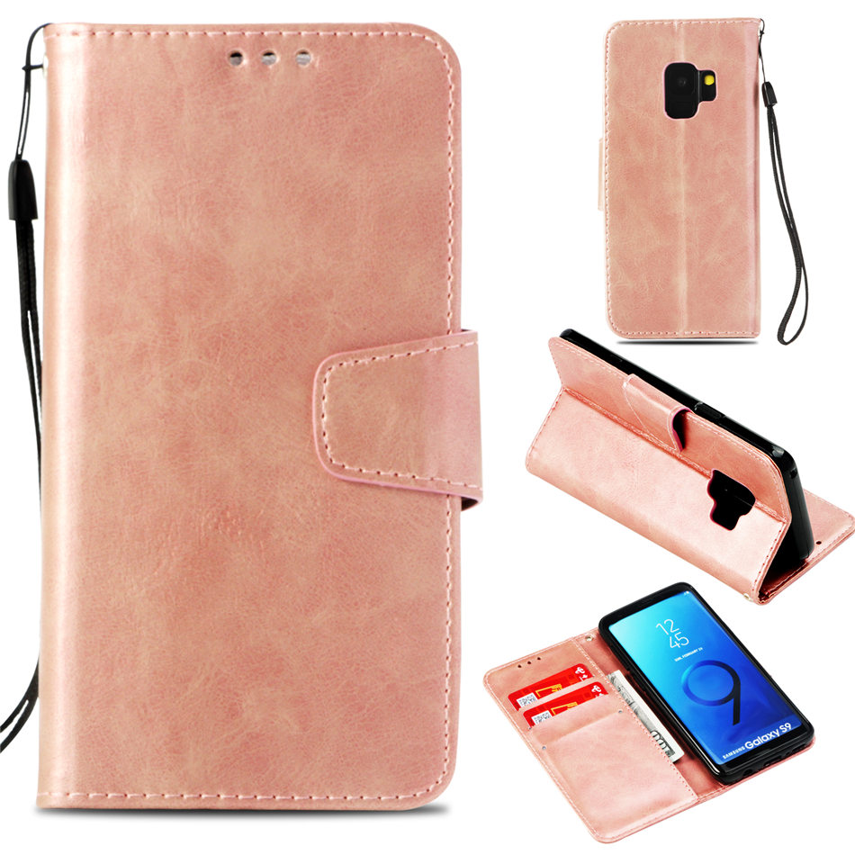 Luxury Retro Leather Case For Fundas Samsung Galaxy S9 S8 S7 S6 Edge A8 Plus 2018 Note 9 8 A3 A5 J3 J5 2016 J7 2017 Cover P03G in Flip Cases from Cellphones Telecommunications