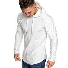 GustOmerD Новый толстовки человека сплошной цвет Slim Fit High Street толстовка с капюшоном в полоску раза спортивная мужская