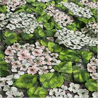 3 yards/pack 3D hydrangea mesh computer embroidery lace fabric for wedding dress shirt fabrics