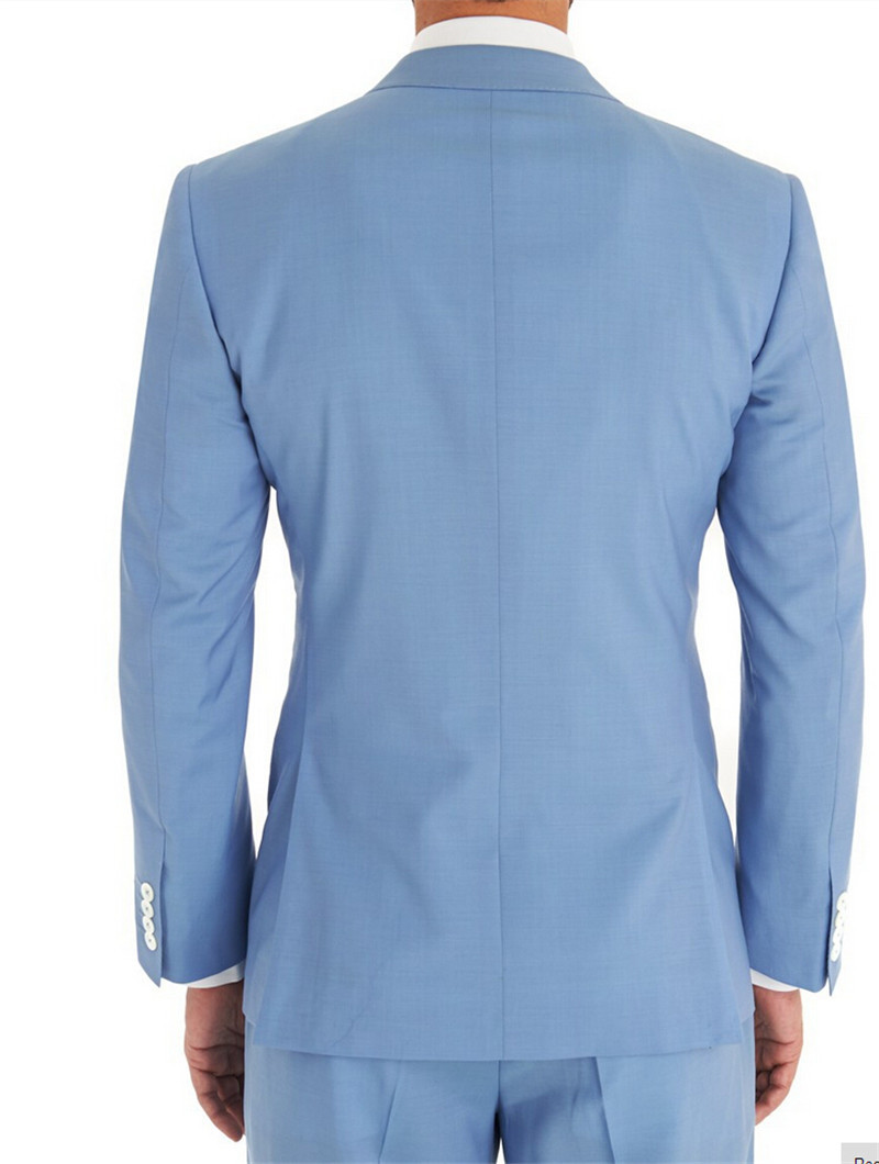 New Arrivel Light blue wedding man\'s Suit party dress Lounge suit ...