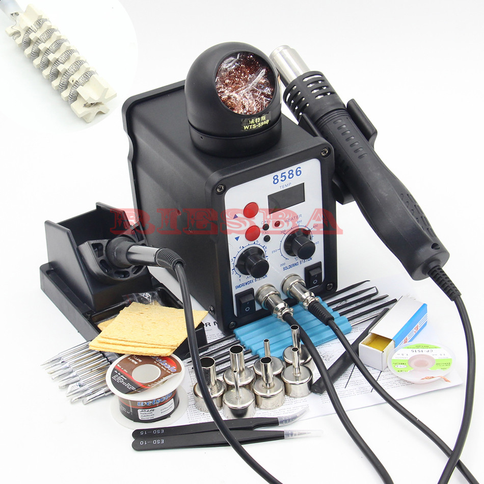 8586 700W ESD Soldering Station LED Digital Solder Iron Desoldering Station BGA Rework Solder Station Hot