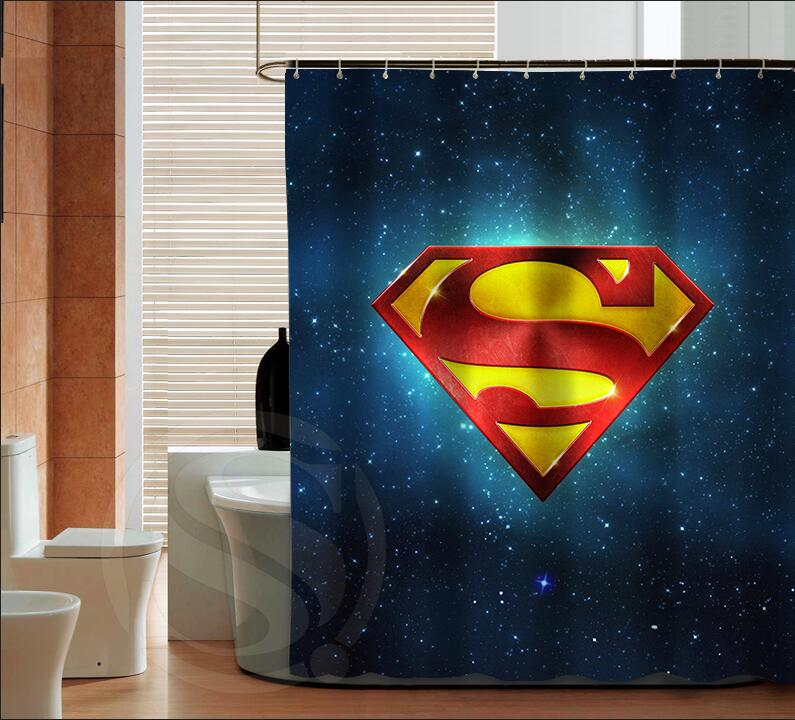 Popular Superman Logo Fashion Custom Shower Curtain Bathroom Decor Various Sizes Free Shipping MORE SIZE SQ0421 ZHH In Curtains From Home Garden On