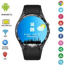 Kw88นาฬิกา3กรัมs mart w atchจีพีเอสsmart watch android 5.1 mtk6580 pedometerด้วยกล้อง2.0mpซิมการ์ดwifi m ontreดีเซลrelógio