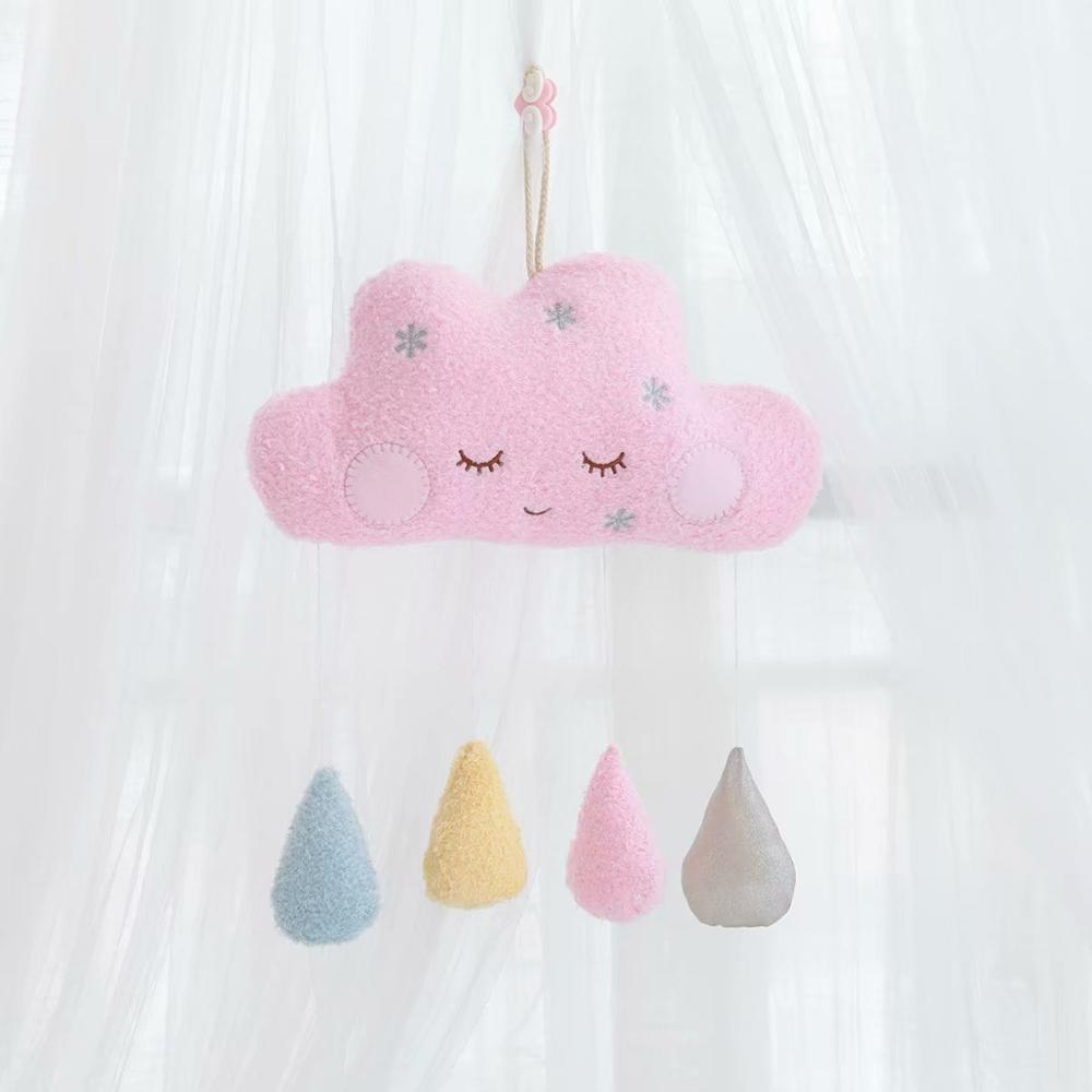 Cloud Moon Hanging Ornaments For Kids Room Plush Home Decoration DIY Felt Wall Hangings Nordic Kids Room Decoration Stuffed Toys
