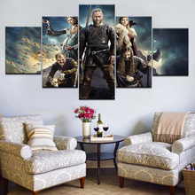 5 Piece TV Series Vikings Poster Modern Home Wall Decor Painting Canvas Art HD Print Picture For