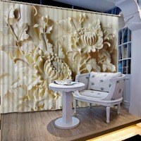 High Definition Art Relief 3D Printing Curtains Lifelike Beautiful Curtains full Shade Bedroom Living Room Curtains CL 054