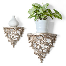European-style creative wall-mounted resin three-dimensional shelves partition shelves living for room wall decorations water table three layers show gum shelves lipstick