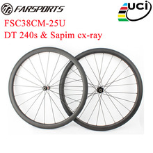 Far Sports carbon road wheels 38mm x 25mm road bike wheels , Aero dynamic for multi-purpose ,with DT 240s SP hubs 36 ratchets