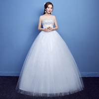 New Plus Size Wedding Dress Ball Gowns Bridal Embroidery Dresses Princess Lace Up Strapless Wedding Dress
