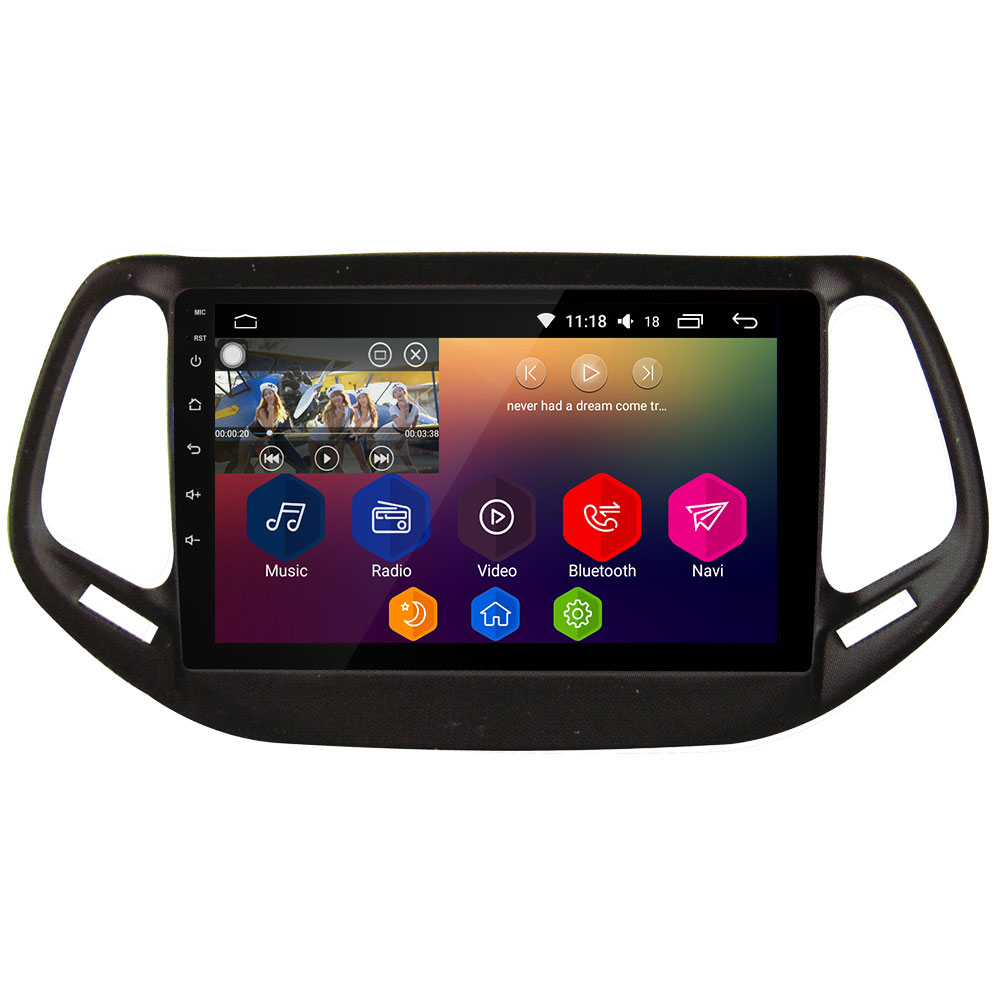 10,1 ips wifi Android 8,1 Octa Core 2 Гб ОЗУ 32 Гб ПЗУ RDS автомобильный dvd плеер радио gps ГЛОНАСС для Jeep Commander 2016 2018