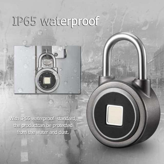 Anytek P2 Smart Keyless Fingerprint Lock Bluetooth Phone APP Unlock  Waterproof Anti-Theft Padlock Door Lock for Android iOS