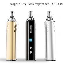 2016 Newest Dry Herb Vaporizer Ecapple IV-1 Electronic Cigarette 18650 Box Mod Herbal Vaporizer with Water Filter Glass Atomizer