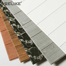 PE Foam 3D Wood Wall Panels DIY Wall Stickers for Kids Room Bedroom Living Room Wall Decor Self adhesive Wallpaper Wall Decals