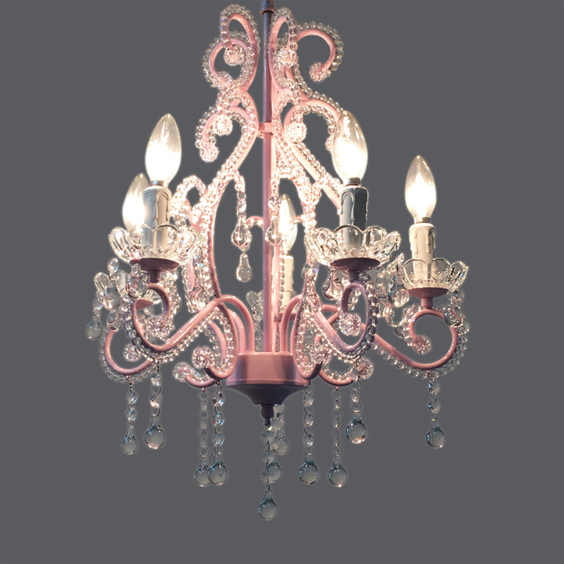 E14 Bulb Elegant Crystal Chandeliers White Pink Modern Metal Hanging Light Lamp Living Room Girl's Bedroom Lighting Fixture P654 restaurant white chandelier glass crystal lamp chandeliers 6 pcs modern hanging lighting foyer living room bedroom art lighting