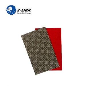 Image 3 - Z LION 2 Blätter Diamant Schleifpapier Galvani Polieren Blatt Abrasive Schleifpapier Grit 60 120 200 400 Ersatz Schleif