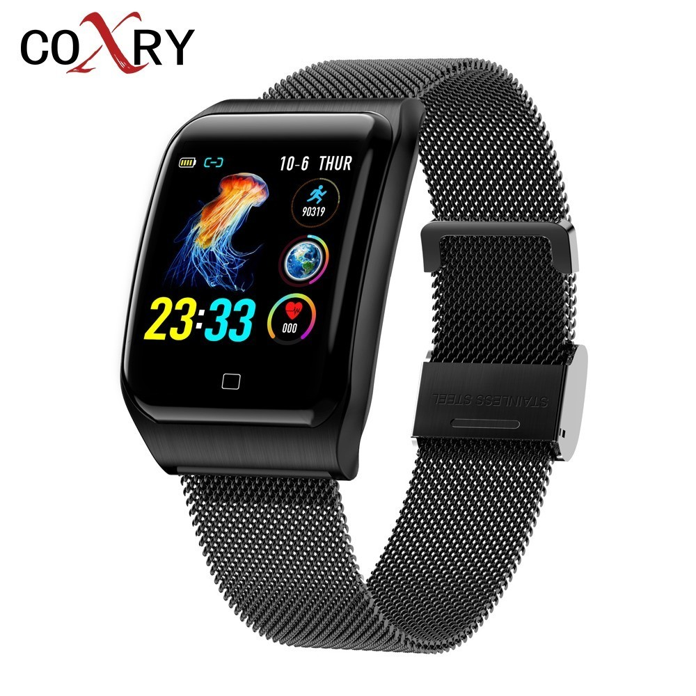 COXRY Multiple Sport Smart Watch Men IOS IP68 Waterproof Heart Rate Smartwatch Blood Pressure Monitor Bluetooth Health Wristband-in Smart Watches from Consumer Electronics