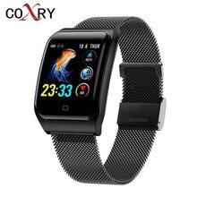 COXRY múltiples reloj deportivo inteligente hombres IOS IP68 impermeable de reloj inteligente con presión arterial Monitor Bluetooth salud pulsera