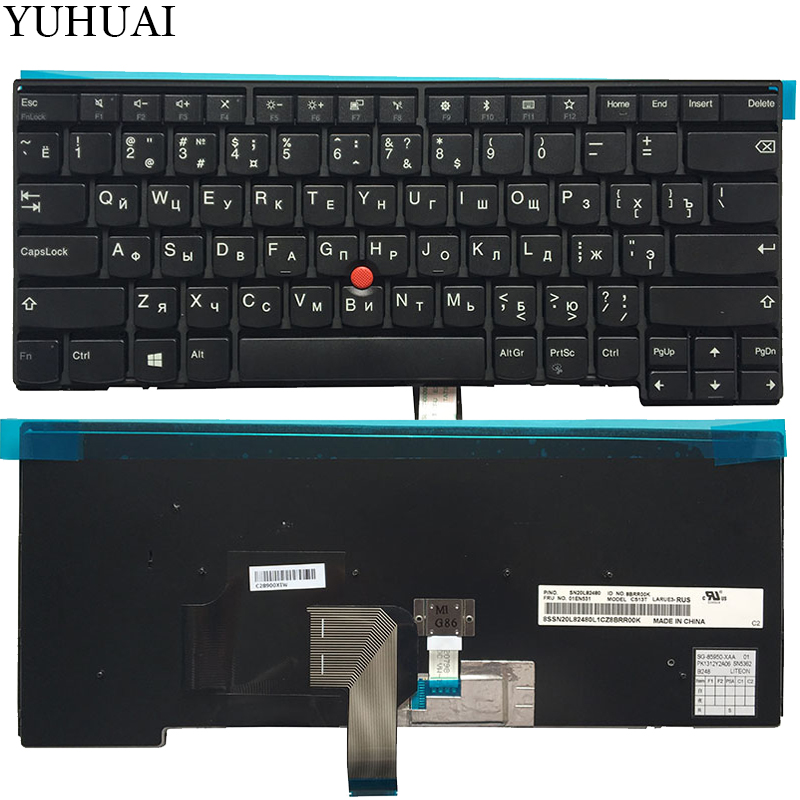 New Russian/RU Laptop Keyboard For Lenovo ThinkPad L440 L450 L460 T431 T431S T440 T440P T440S T450 T450S E431 E440 Non-backlight