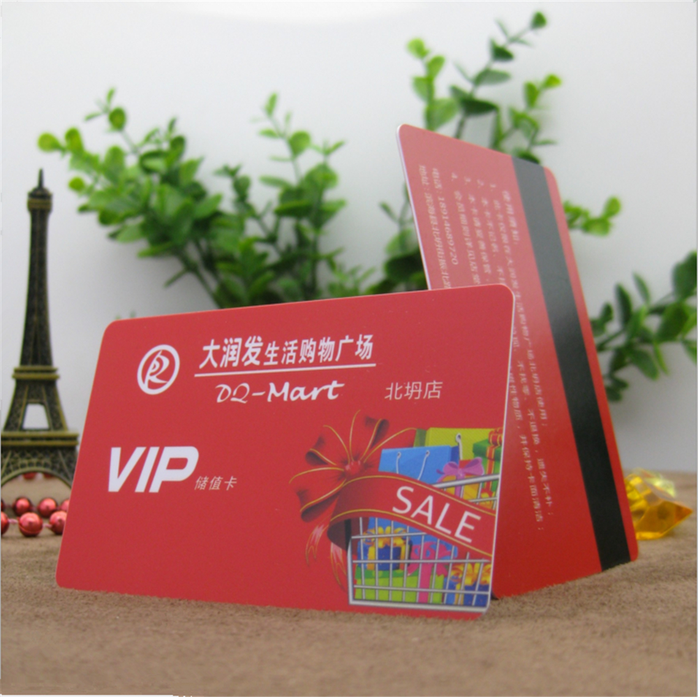50pcs 85.5*54*0.76mm Wholesale Any Color Offset Printing Magnetic Stripe Pvc Card For Vip Card Printing Free Design Mild And Mellow Business Cards Office & School Supplies