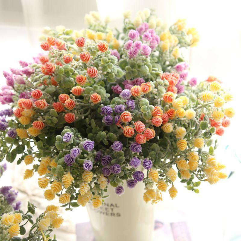 1 Demet Yapay Çiçek çam kozalağı Buket Akın Plastik Kırsal - Tatiller ve Partiler Için - Fotoğraf 2
