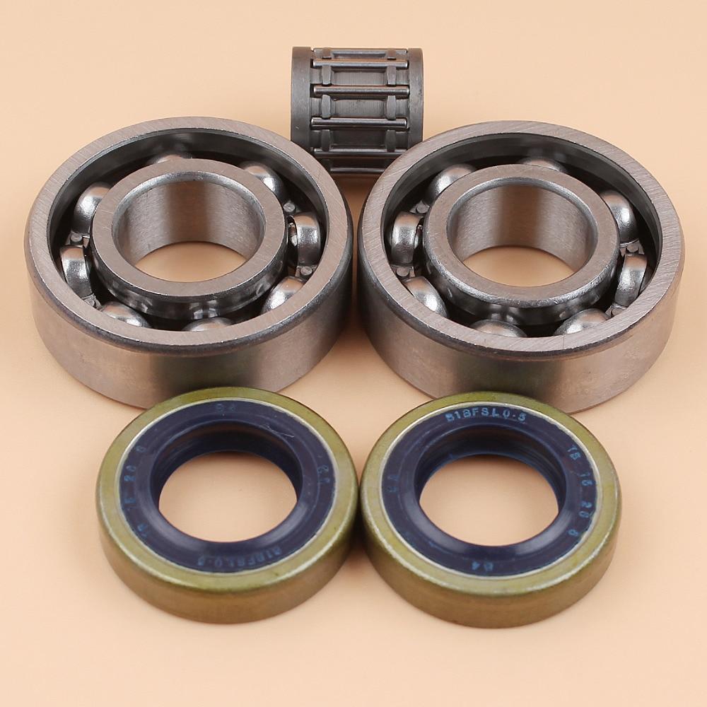 Crankshaft Crank Ball Needle Bearing Oil Seals Kit For HUSQVARNA 61 66 266 268 272 XP 272XP Chainsaw