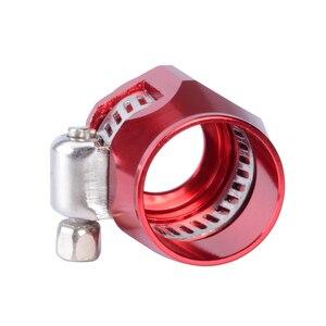 Image 4 - AN10クランプホースフィニッシャークランプ/クリップ10 apsアルミ合金燃料/オイル/ラジエーター/ゴム燃料油水パイプジュビリークリップクランプ