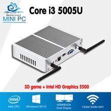 Avs 2016 Nuevo Core i3 5005u Barebone Mini PC windows $ number Dual Core WIFI USB3.0 Mini Computadora de Escritorio HTPC caja de la TV