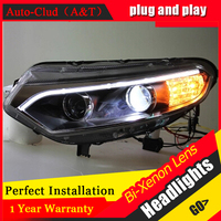 Auto Clud For Ford EcoSport Headlights 2013 2015 Bifocal Lens For Ford EcoSport LED Light Bar