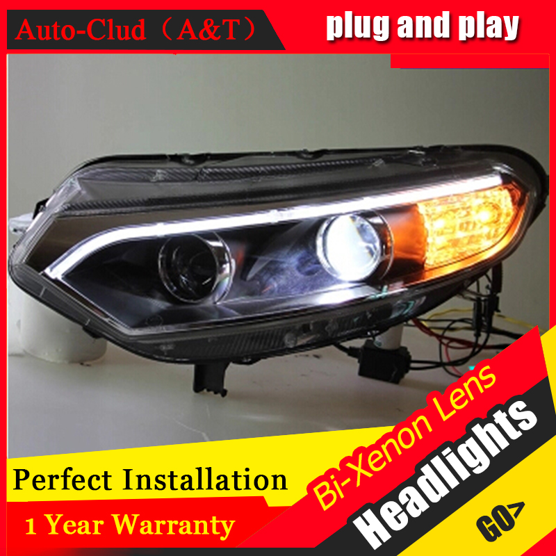 цена на Auto Clud for ford EcoSport headlights 2013-2015 Bifocal lens for EcoSport xenon H7 head lamps car styling