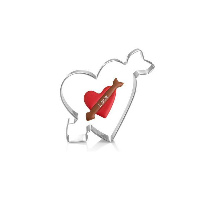 Moule à Biscuits en acier inoxydable   Cupidon flèche, moule à crêpes, moule à Biscuits, pression, moule à timbres, amour gâteau de mariage décoratif, timbre à Biscuits