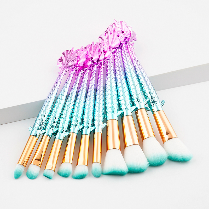 Full Styel Fish Makeup Brushes Set Blending Powder Contour Concealer Blush Eyeshadow Face Eyes Cosmetic Make Up Brush Tool Kits focallure 10pcs makeup brushes set foundation blending powder eyeshadow contour blush brush beauty cosmetic make up tool kit