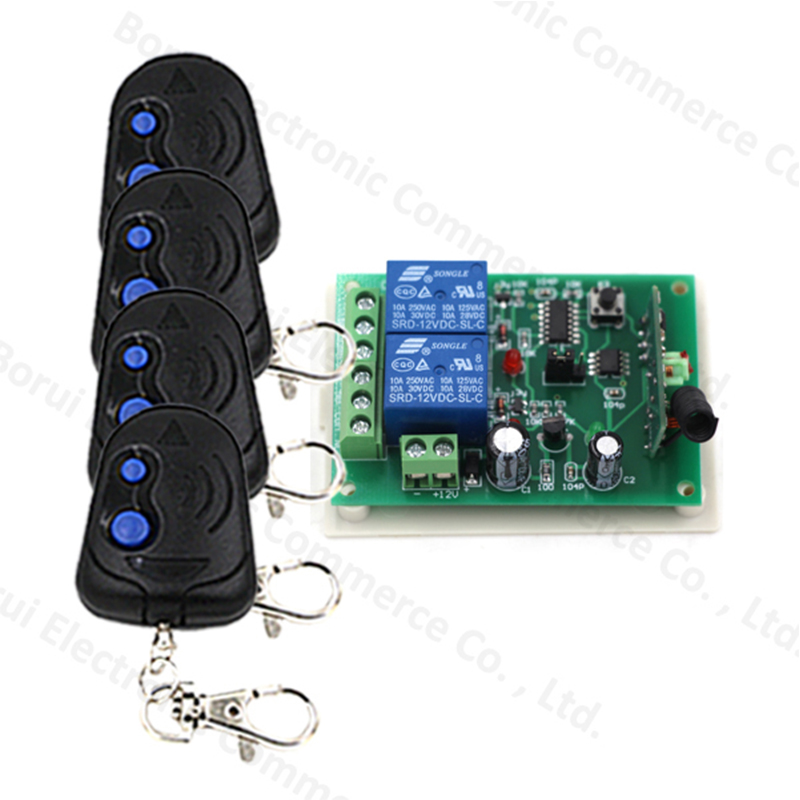 DC12V RF Remote Control Switch System 2CH Relay WirelessON/OFF For Door Window Transmitter Receiver ключницы petek 2542 46d 01