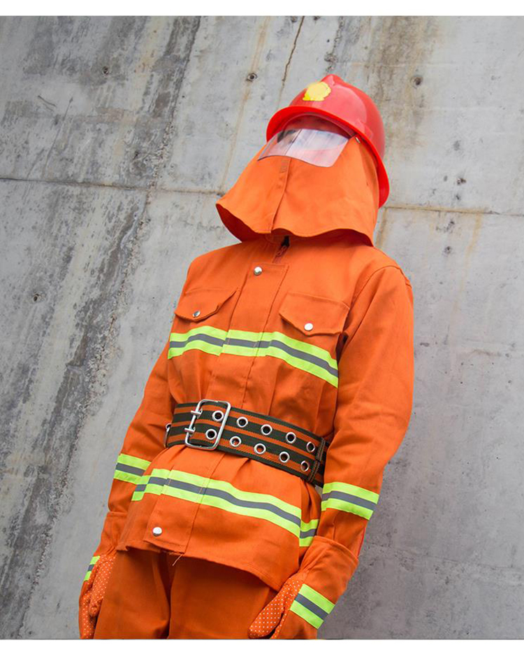 Fire Fighting Suit Safety Clothes Fireproof Flame-retardant Protective Clothing Miniature Fire Station Equipment 6 Pieces Suit (21)