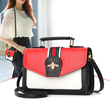 2018 Luxury Crossbody bag Women Colorful splicing Little Bee Bags GG Design Handbag Female Shoulder Bags Messenger Bag Sac Femme