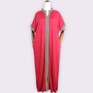 Image 5 - Африканские платья для женщин, традиционное Африканское длинное платье Bazin, африканская одежда с вышивкой, Дашики, платье для женщин