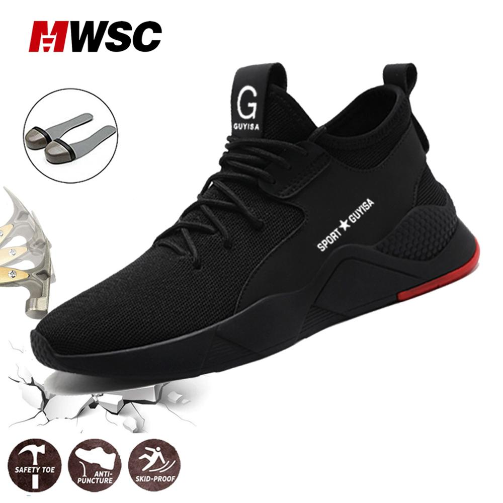 MWSC Man Safety Work Shoes Summer Working Boots Safety Work Shoes Steel Toes Male Safety Anti-pierce Composite Fashion SneakersMWSC Man Safety Work Shoes Summer Working Boots Safety Work Shoes Steel Toes Male Safety Anti-pierce Composite Fashion Sneakers